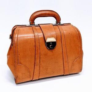 Vintage Leather Doctor Bag Satchel